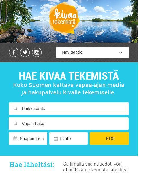 KivaaTekemistä.fi -mobiiliversio