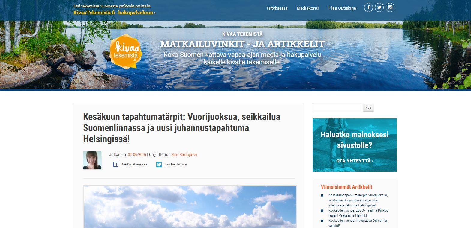 Artikkelit- ja matkailu-uutiset