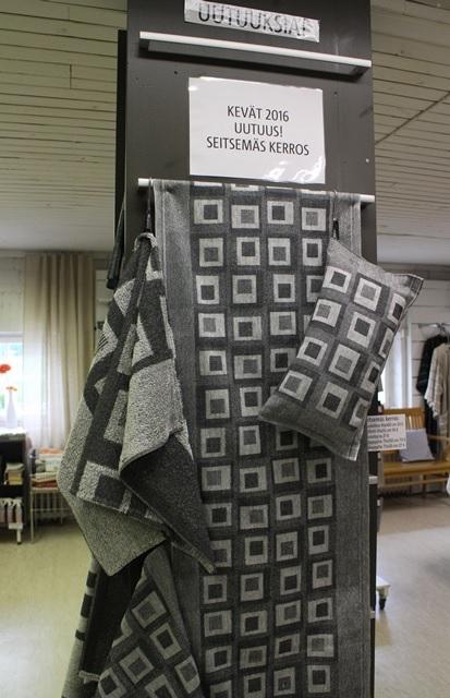 Tuula Vilénin suunnittelema Seitsemäs kerros -kuosi. Kuva: KivaaTekemistä.fi
