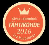 Uusi Kivaa Tekemistä Tähtikohde -sinetti 2016