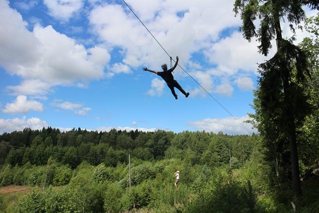 Vihreän Hongatar-alaradan loppuliuku. Kuva: KivaaTekemistä.fi
