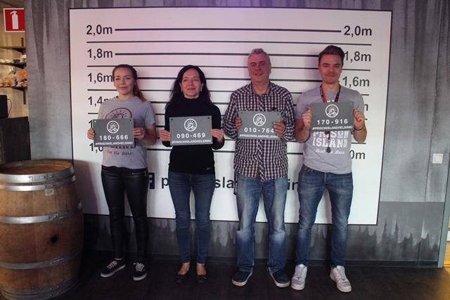Prison Islandin Jannika, Maarit, Lasse ja Joni. Lars