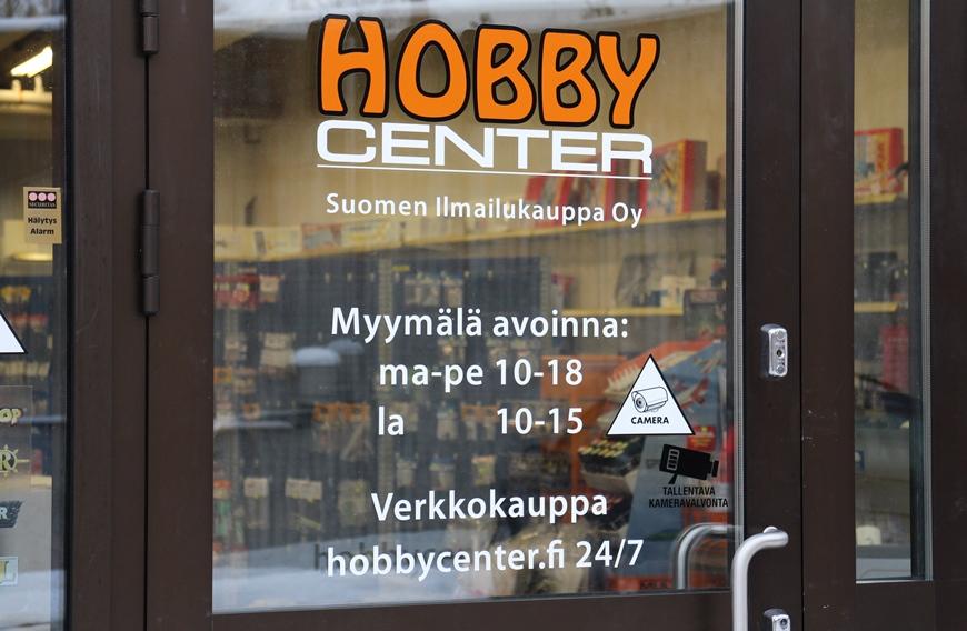 Huom. Kuvasta poiketen Hobby Center on auki 7.12.2016 alkaen ma-su aina jouluun saakka. Kuva: KivaaTekemistä.fi