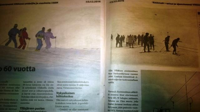 Kuvaleike, Ylläksen paikallislehti Kuukkeli 16/2016.