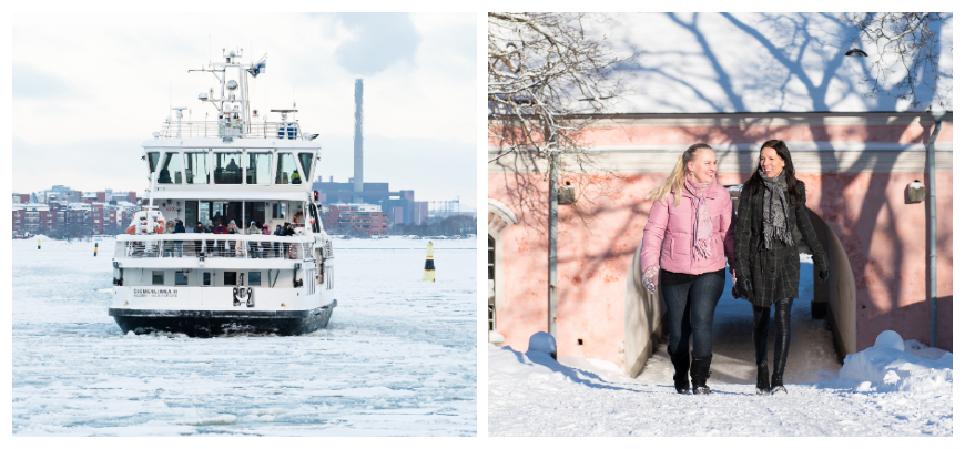 Suomenlinna ferry and Rantakasarmi barracks. Photos: Super Otus / The Governing Body of Suomenlinna