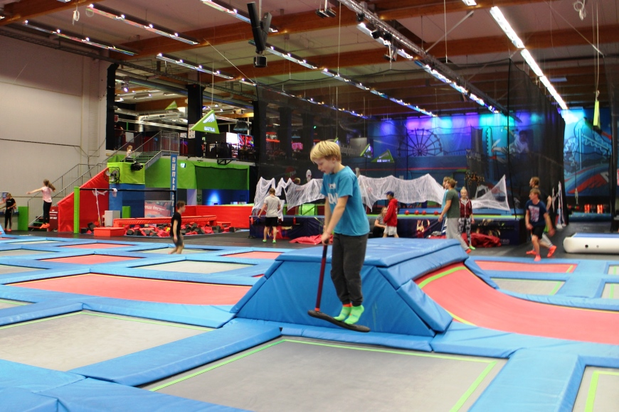 New on a trampoline: Jump by a scoot! Photo: LikeFinland.com