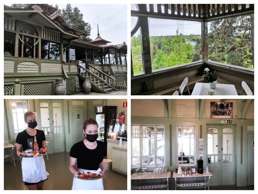You'll find idyllic cafés in historical places such as Heinolan Harjupaviljonki (in photos) as well as Café Kailas pavilions. Photos: LikeFinland.com